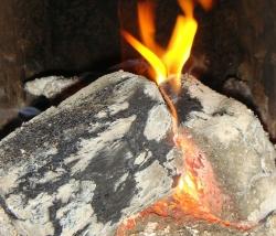 Look like logs, burn like coals!