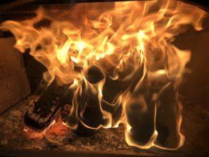 Bark Burning Blocks