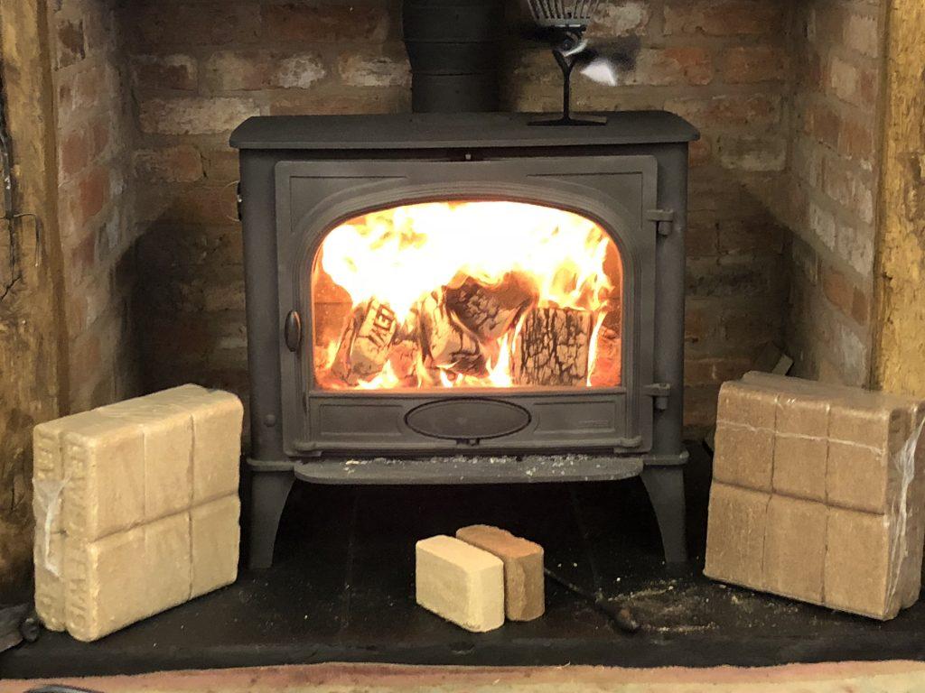 Bark Briquettes Burning Blocks Burning Blocks